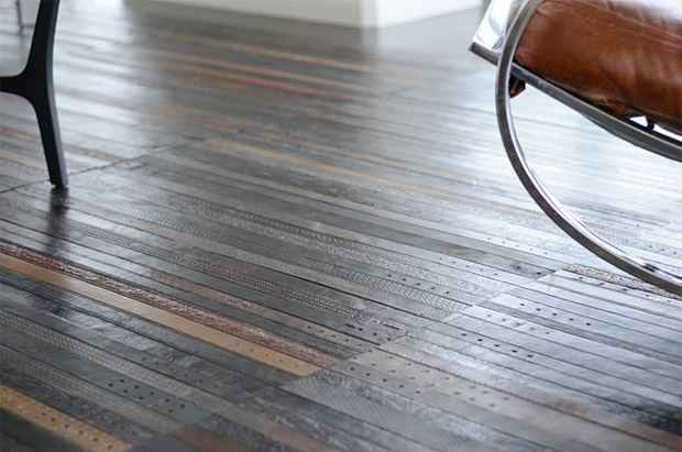 Vintage Leather Belt Flooring At