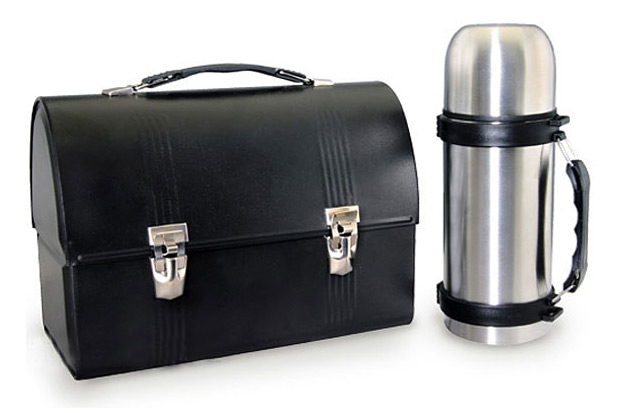 Black Dome Lunch Box & Thermos at werd.com
