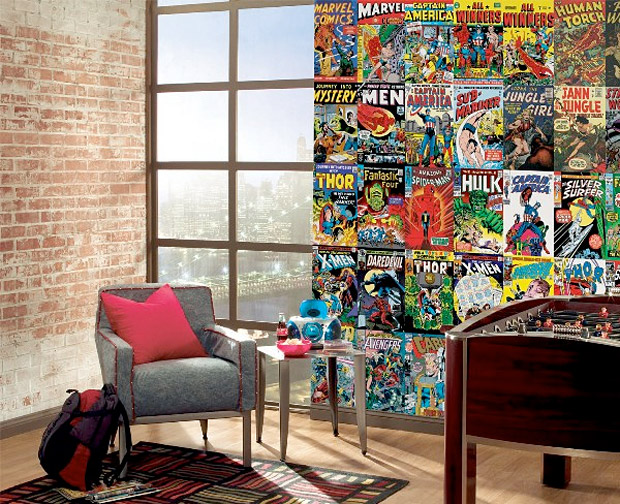 Gallery marvel comic book wallpaper for Comic book wallpaper mural