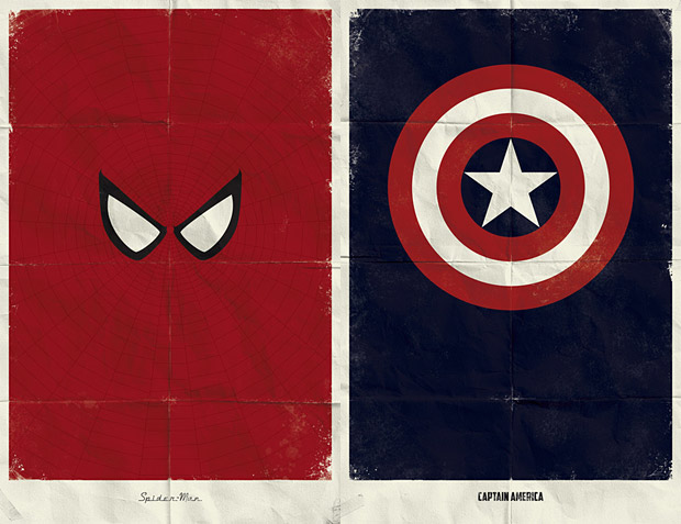 Marvel Minimalist Prints at werd.com