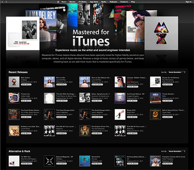 Apple Mastered for iTunes at werd.com