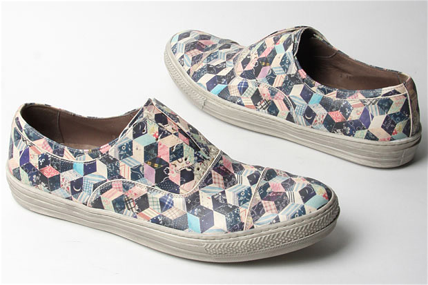 Alexander McQueen Calamity Patchwork Print Sneakers at werd.com