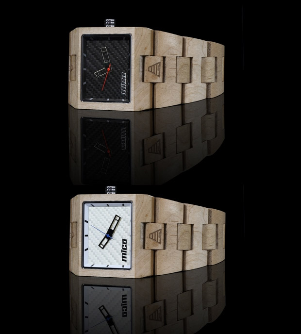 Mica Plank Maple Wood Watch at werd.com