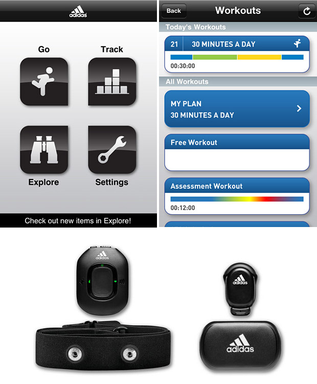 Adidas miCoach Mobile App at werd.com