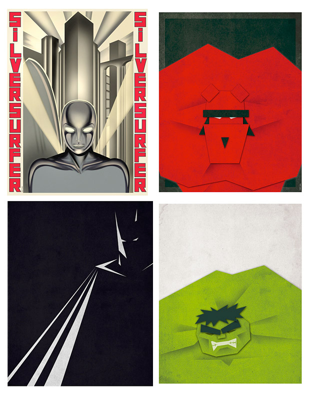 Minimalist Super Hero Prints at werd.com