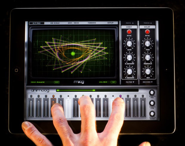 Moog Synth for iPad at werd.com