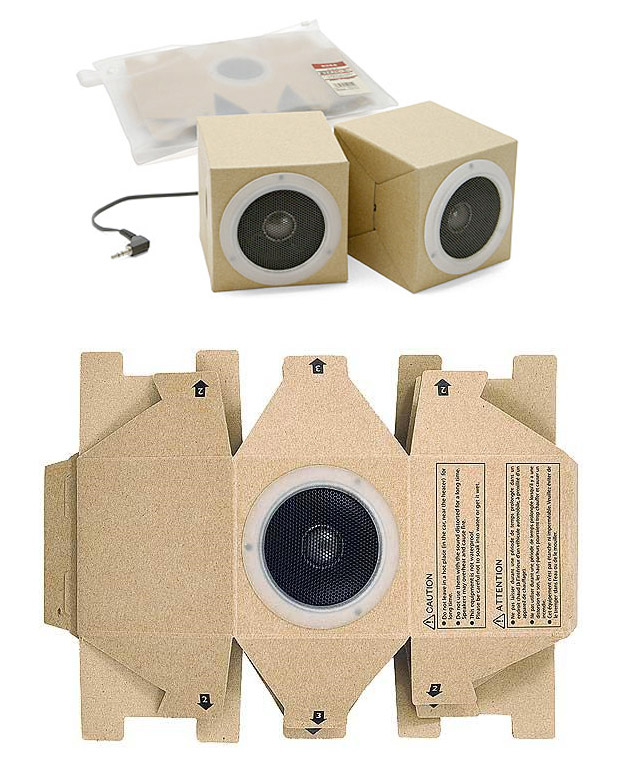 Muji Cardboard Speakers at werd.com