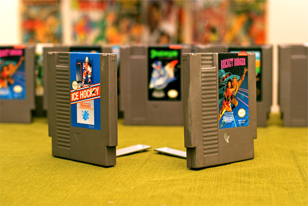 Nintendo Game Cartridge Book Ends at werd.com