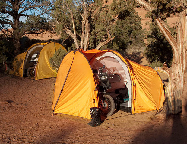 Nomad Motorcycle Tent at werd.com