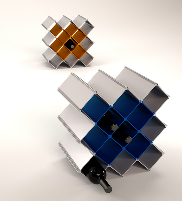 Nucleus Modular Wine Rack at werd.com