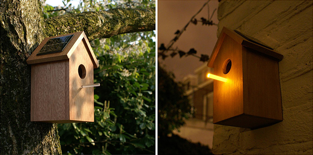 Oooms Solar Birdhouse at werd.com