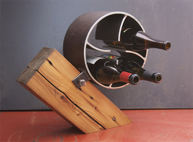 Pipe Roll Wine Rack at werd.com