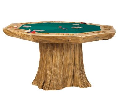 Log Poker Table at werd.com