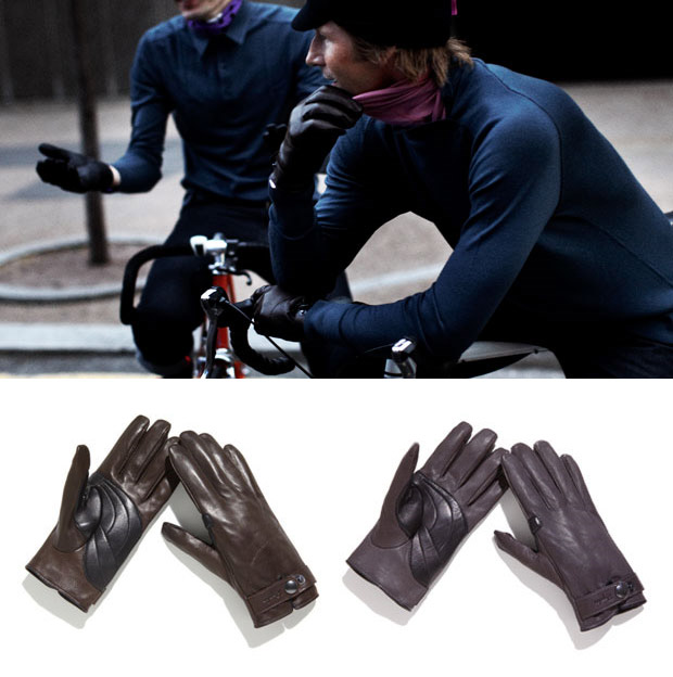 Rapha Leather Town Gloves at werd.com