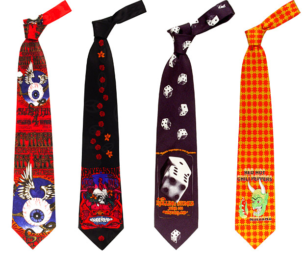 Rock Neckties at werd.com