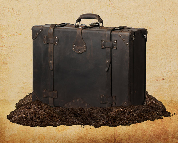 Saddleback Leather Dark Coffee Brown Suitcase at werd.com