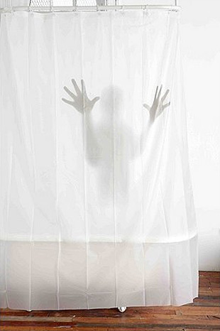 Scary Shower Curtain at werd.com