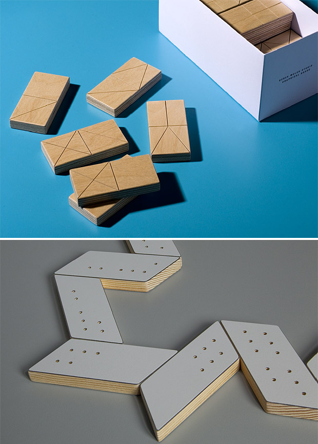 Oblique & Semaphor Domino Sets at werd.com
