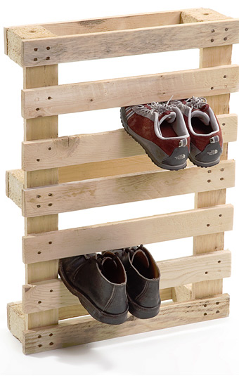 Shipping Palette Shoe Rack at werd.com