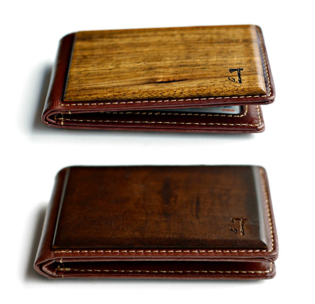 Slim Timber Wood Bifold Wallet at werd.com