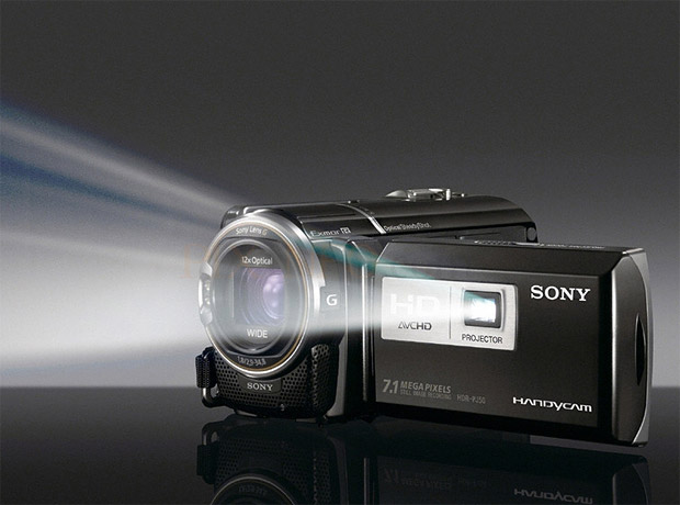 Sony HD Camcorder with Projector at werd.com