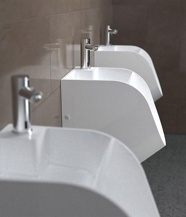 Stand Tandem Urinal at werd.com