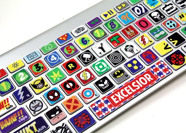 Super Hero Keyboard Skin at werd.com