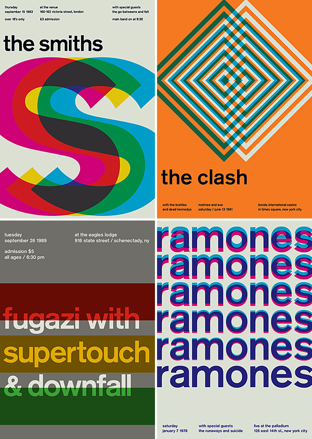 Swissted: Vintage Rock Posters Remixed at werd.com