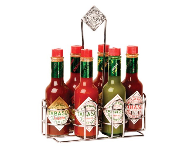Tabasco 6 Pepper Sauce Caddy at werd.com