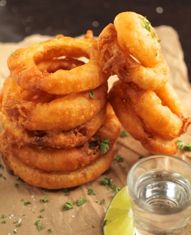 Tequila Battered Onion Rings at werd.com
