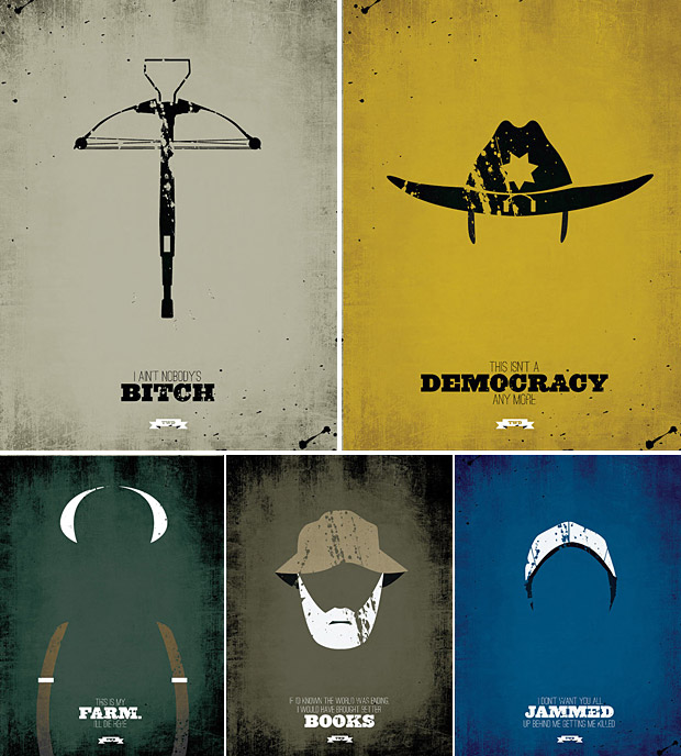 the walking dead minimalist prints at werd the walking dead is coming to the ps vita 620x688