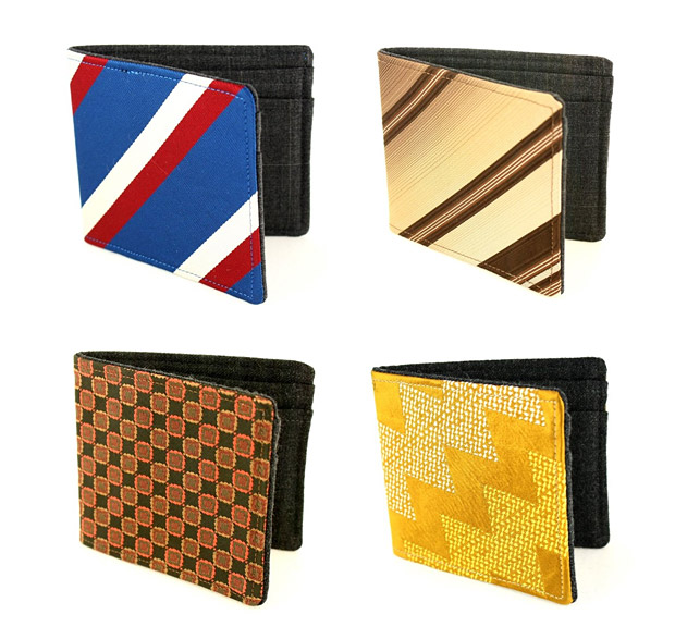 Recycled Necktie Wallets at werd.com