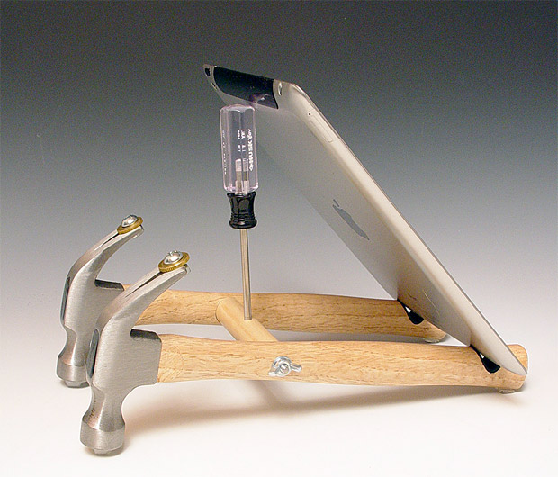 Repurposed Tool iPad Stand at werd.com