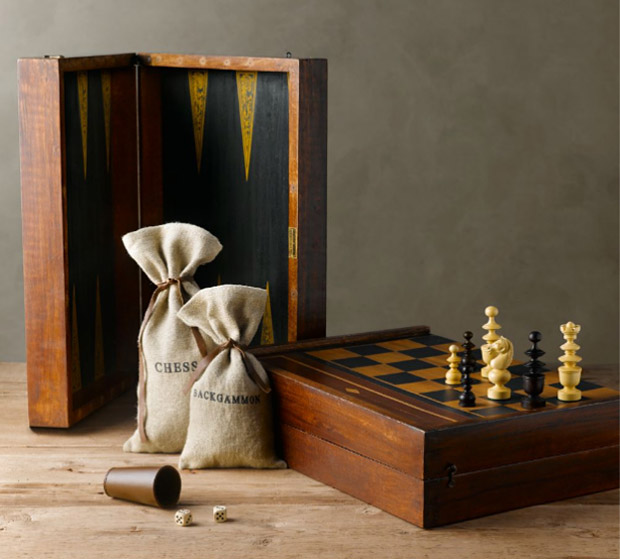 French Tournament Edition Backgammon & Chess Set at werd.com