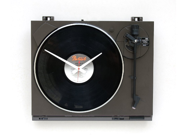 Recycled Turntable Clock at werd.com