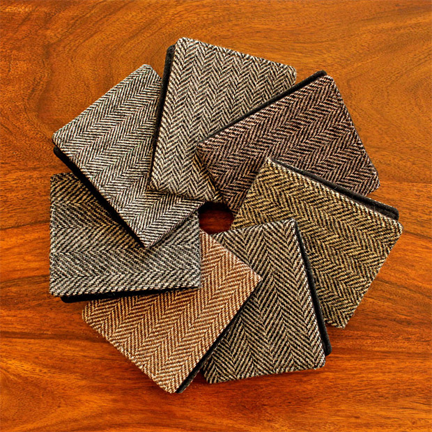 Recycled Tweed Coat Wallets at werd.com