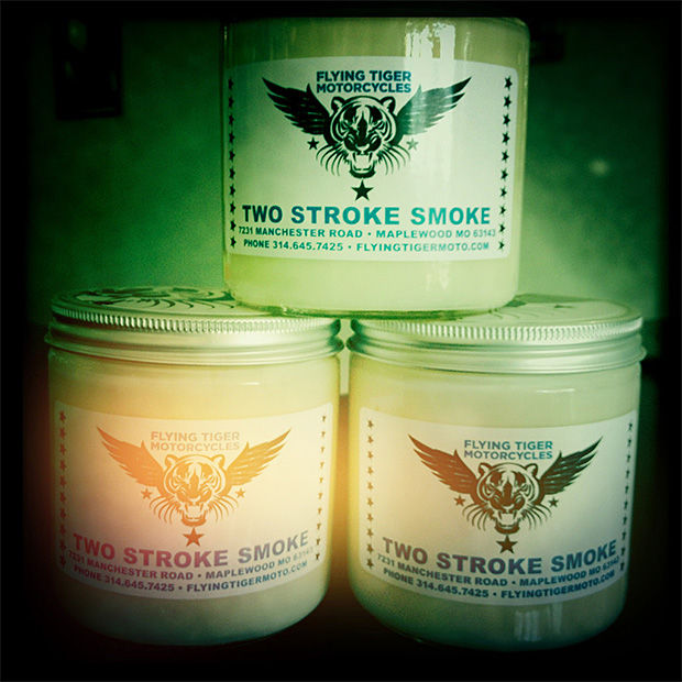 Two Stroke Smoke Candle at werd.com