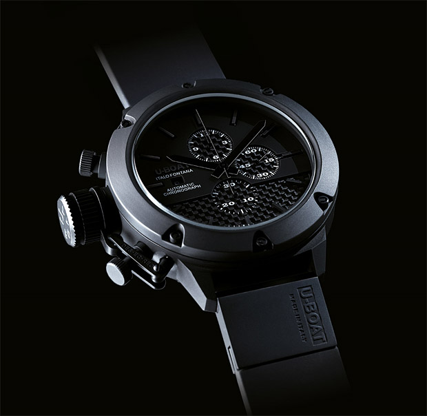 U-Boat Classico Carbon Fibre Ceramic Watch at werd.com