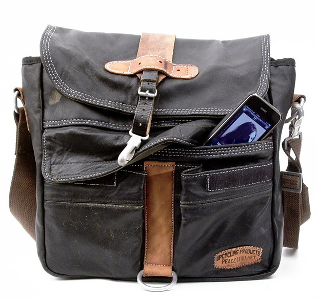 Upcycled Messenger Bags at werd.com