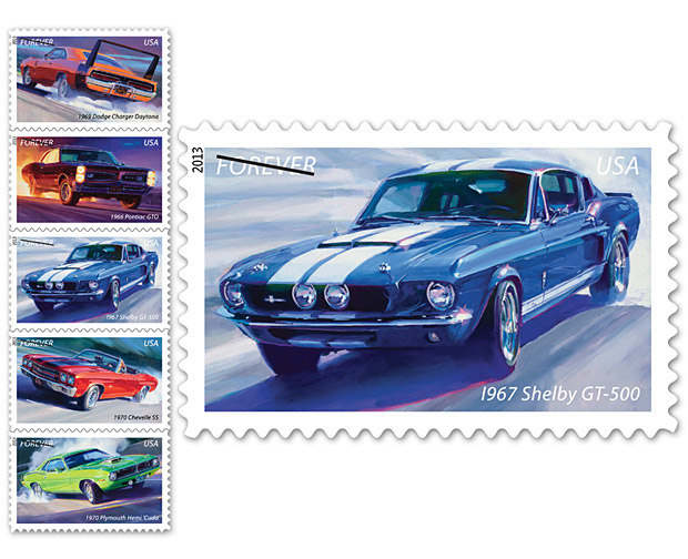 USPS Muscle Car Stamps at werd.com