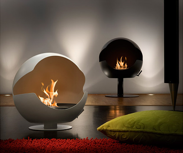 Vauni Globe Fireplace at werd.com