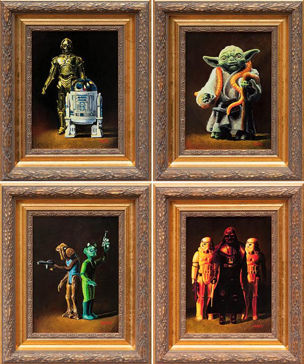Vintage Star Wars Figure Paintings at werd.com