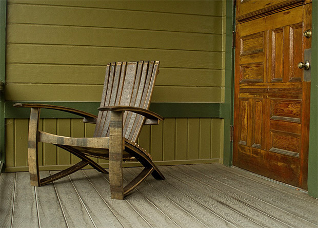 Whiskey Barrel Adirondack Chair at werd.com