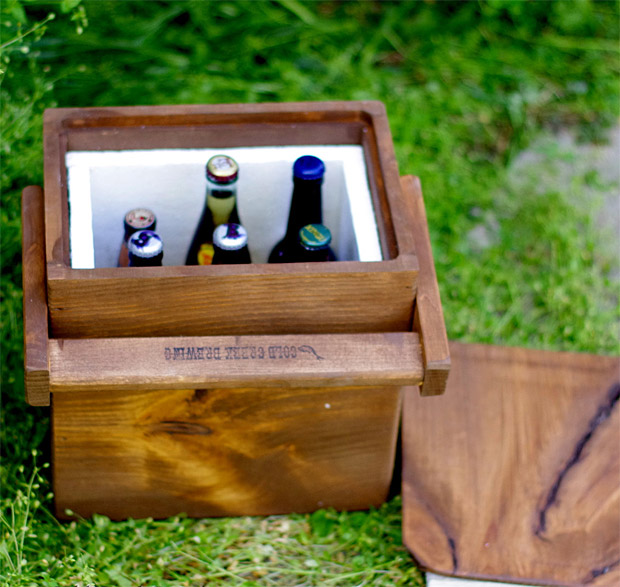 Wooden Beer Cooler at werd.com