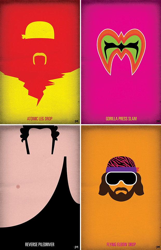 WWF Legends Minimalist Posters at werd.com